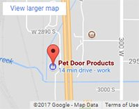 Pet Door Products are manufactured in Salt Lake City, Utah