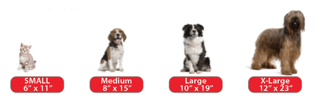 Pet Door Sizing Graphic - dog door for large dog